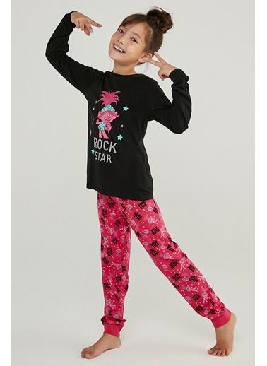 Penti Kız Çocuk Trolls Rock Star 2Li Pijama Takımı Renkli